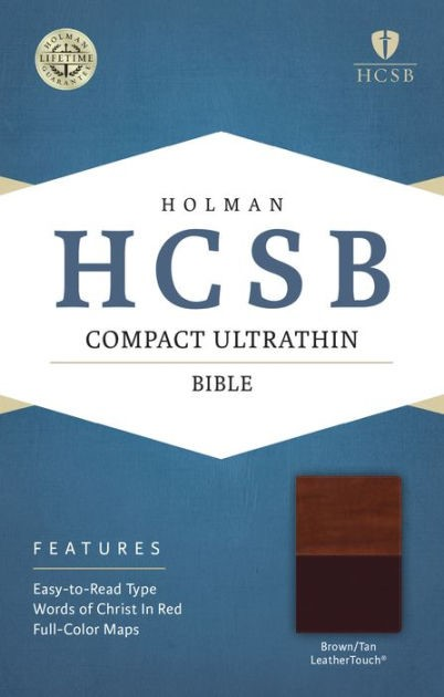 HCSB Compact Ultrathin Bible, Brown/Tan Leathertouch (Imitation Leather)