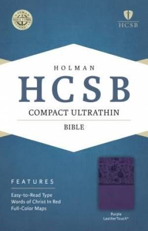 HCSB Compact Ultrathin Bible, Purple Leathertouch (Imitation Leather)
