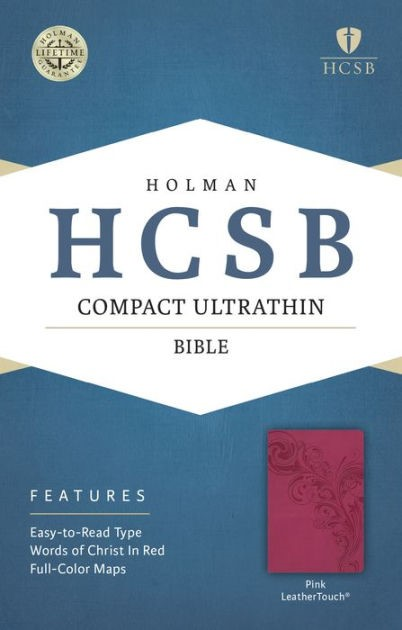 HCSB Compact Ultrathin Bible, Pink Leathertouch (Imitation Leather)