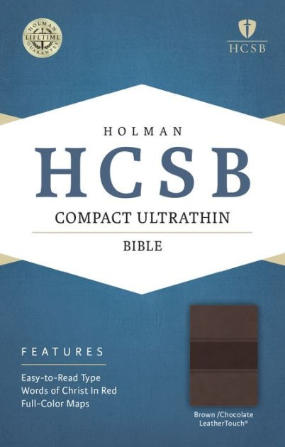 HCSB Compact Ultrathin Bible, Brown/Chocolate Leathertouch (Imitation Leather)