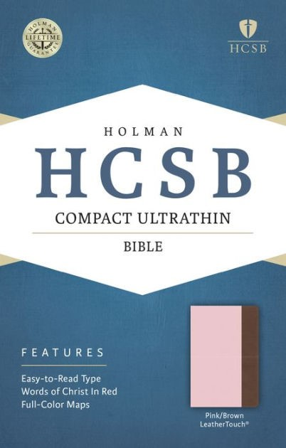 HCSB Compact Ultrathin Bible, Pink/Brown Leathertouch (Imitation Leather)