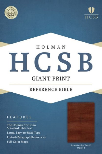 HCSB Giant Print Reference Bible, Brown, Indexed (Imitation Leather)