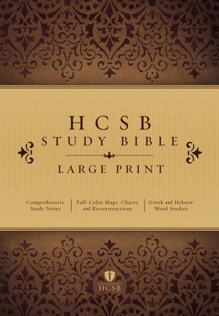 HCSB Large Print Study Bible, Hardcover (Hard Cover)