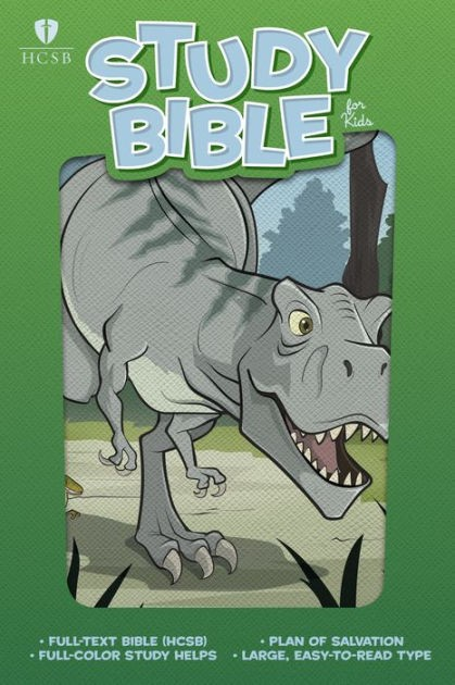 HCSB Study Bible For Kids, Dinosaur Leathertouch (Imitation Leather)