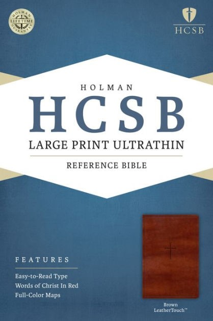 HCSB Large Print Ultrathin Reference Bible, Brown (Imitation Leather)
