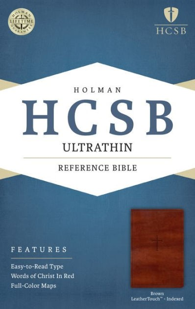 HCSB Ultrathin Reference Bible, Brown Leathertouch Indexed (Imitation Leather)