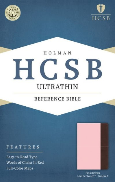HCSB Ultrathin Reference Bible, Pink/Brown, Indexed (Imitation Leather)