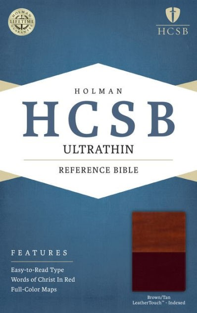 HCSB Ultrathin Reference Bible, Brown/Tan, Indexed (Imitation Leather)
