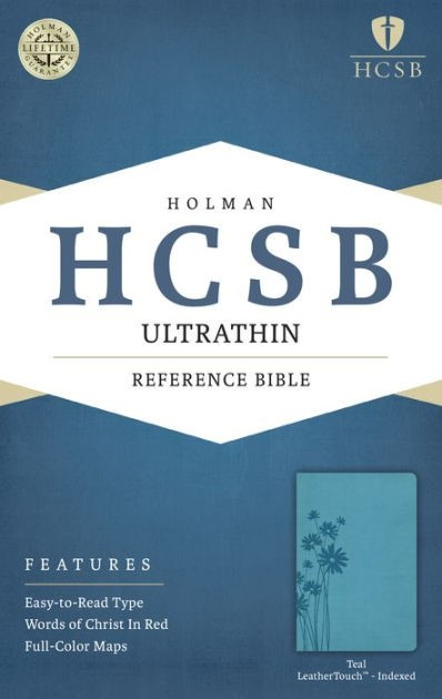 HCSB Ultrathin Reference Bible, Teal Leathertouch Indexed (Imitation Leather)