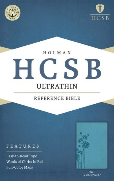 HCSB Ultrathin Reference Bible, Teal Leathertouch (Imitation Leather)
