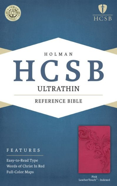 HCSB Ultrathin Reference Bible, Pink Leathertouch Indexed (Imitation Leather)