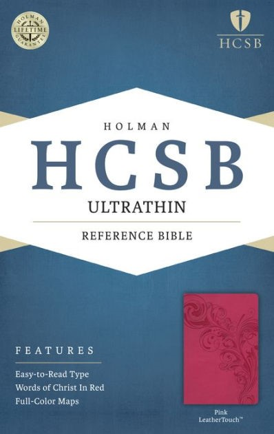 HCSB Ultrathin Reference Bible, Pink Leathertouch (Imitation Leather)