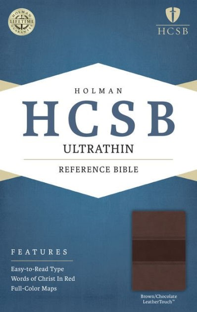 HCSB Ultrathin Reference Bible, Brown/Chocolate Leathertouch (Imitation Leather)