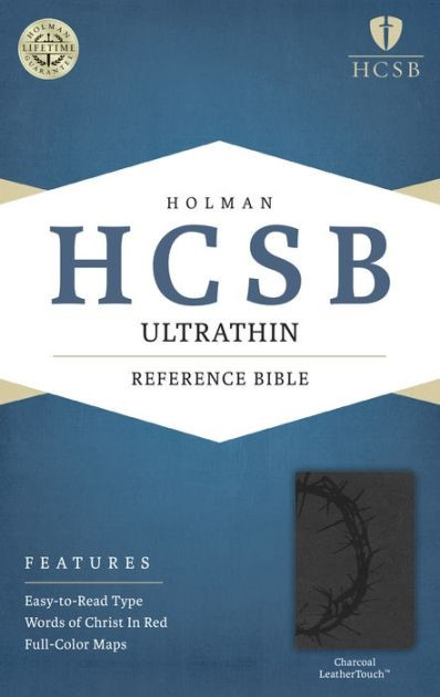 HCSB Ultrathin Reference Bible, Charcoal Leathertouch (Imitation Leather)