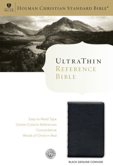 HCSB Ultrathin Reference Bible, Black Genuine Cowhide (Leather Binding)