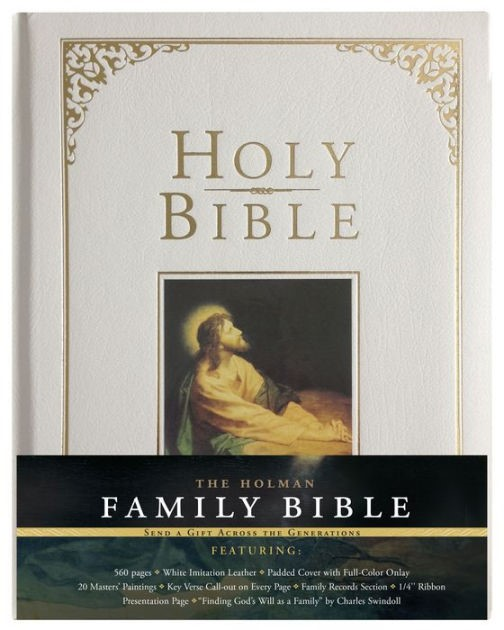 KJV Holman Family Bible, White (Hard Cover)