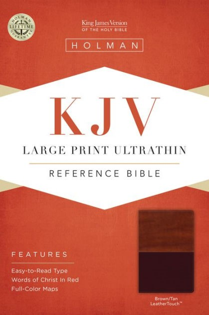 KJV Large Print Ultrathin Reference Bible, Brown/Tan