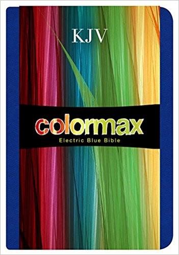 KJV Large Print Compact Bible, Electric Blue Colormax (Imitation Leather)