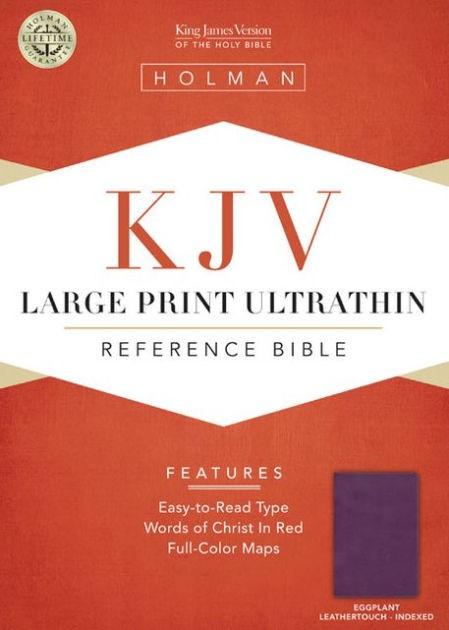KJV Large Print Ultrathin Reference Bible, Eggplant (Imitation Leather)