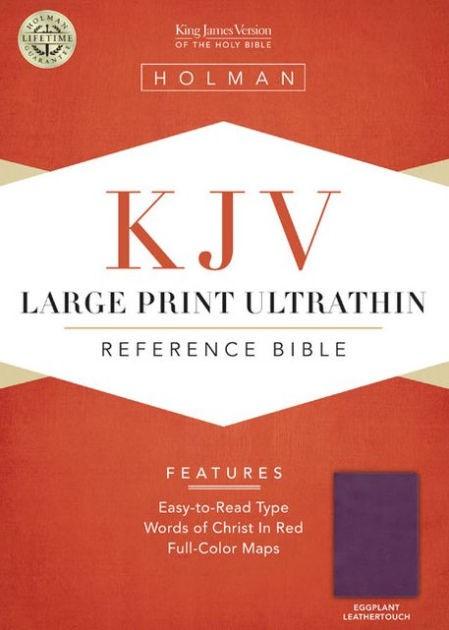 KJV Large Print Ultrathin Reference Bible, Eggplant