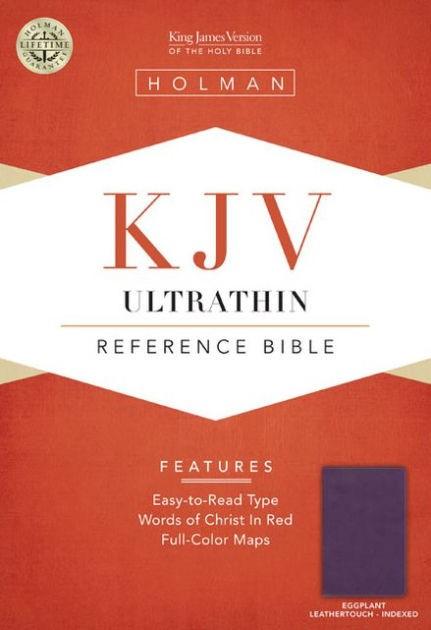 KJV Ultrathin Reference Bible, Eggplant Leathertouch Indexed (Imitation Leather)