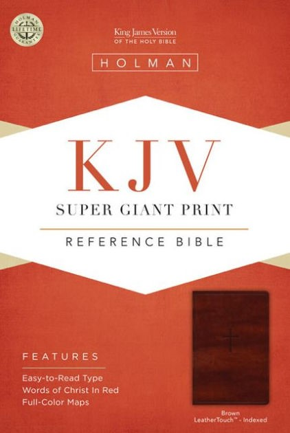 KJV Super Giant Print Reference Bible, Brown, Indexed