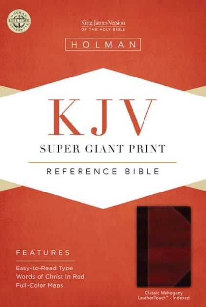 KJV Super Giant Print Reference Bible, Classic Mahogany (Imitation Leather)