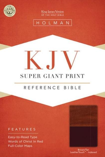 KJV Super Giant Print Reference Bible, Brown/Tan (Imitation Leather)