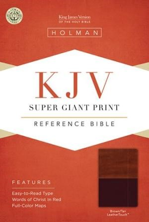 KJV Super Giant Print Reference Bible, Brown/Tan (Imitation Leather)
