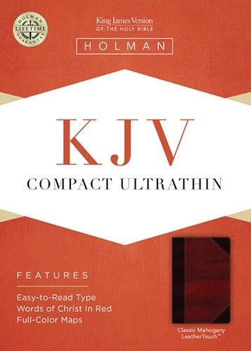 KJV Compact Ultrathin Bible, Classic Mahogany Leathertouch (Imitation Leather)