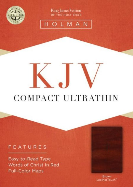 KJV Compact Ultrathin Bible, Brown Leathertouch (Imitation Leather)