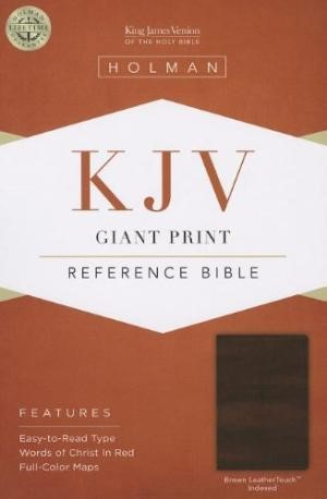 KJV Giant Print Reference Bible, Brown Leathertouch Indexed (Imitation Leather)