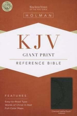 KJV Giant Print Reference Bible, Charcoal, Indexed (Imitation Leather)