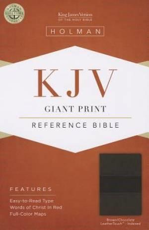KJV Giant Print Reference Bible, Brown/Chocolate (Imitation Leather)