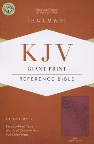 KJV Giant Print Reference Bible, Pink Leathertouch (Imitation Leather)