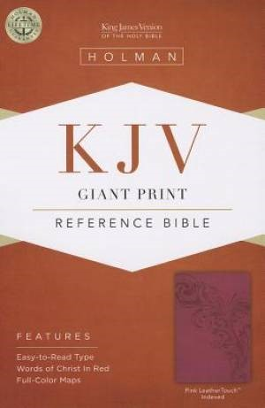 KJV Giant Print Reference Bible, Pink Leathertouch Indexed (Imitation Leather)