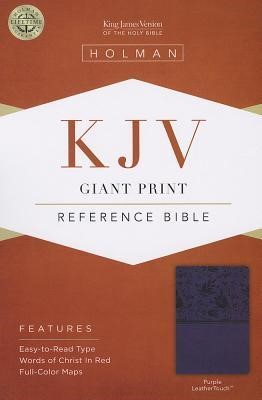 KJV Giant Print Reference Bible, Purple Leathertouch (Imitation Leather)