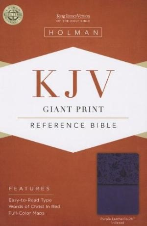KJV Giant Print Reference Bible, Purple Leathertouch Indexed (Imitation Leather)