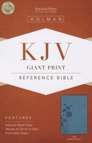 KJV Giant Print Reference Bible, Teal Leathertouch (Imitation Leather)