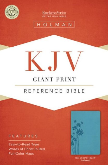 KJV Giant Print Reference Bible, Teal Leathertouch Indexed (Imitation Leather)