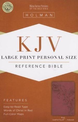 KJV Large Print Personal Size Reference Bible, Pink (Imitation Leather)