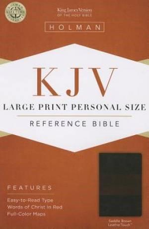 KJV Large Print Personal Size Reference Bible, Saddle Brown (Imitation Leather)