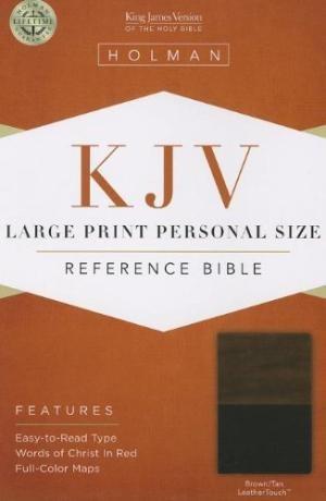 KJV Large Print Personal Size Reference Bible, Brown/Tan (Imitation Leather)