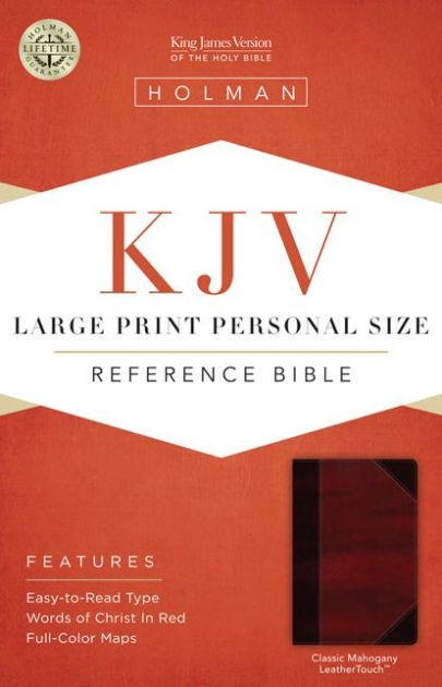KJV Large Print Personal Size Reference Bible, Mahogany (Imitation Leather)