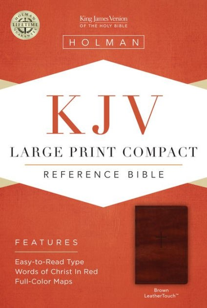 KjJV Large Print Compact Reference Bible, Brown Leathertouch (Imitation Leather)