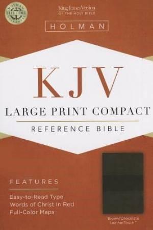 KJV Large Print Compact Reference Bible, Brown/Chocolate (Imitation Leather)