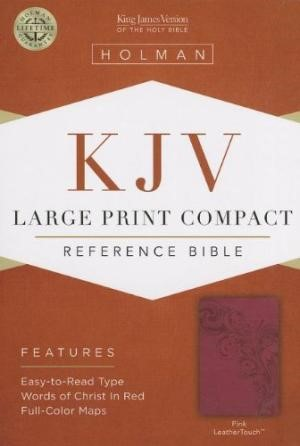 KJV Large Print Compact Reference Bible, Pink Leathertouch (Imitation Leather)
