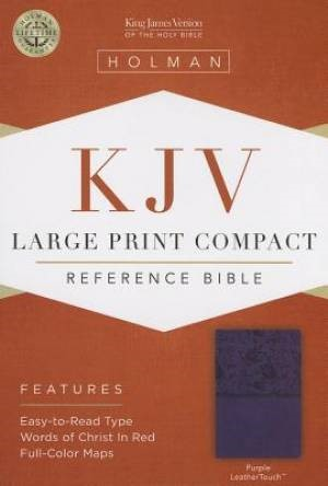 KJV Large Print Compact Reference Bible, Purple Leathertouch (Imitation Leather)