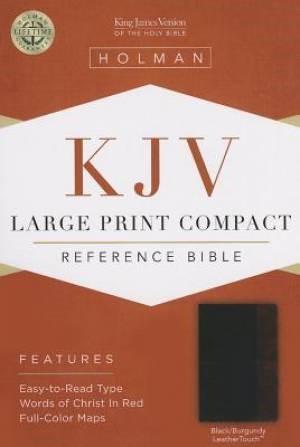 KJV Large Print Compact Reference Bible, Black/Burgundy (Imitation Leather)