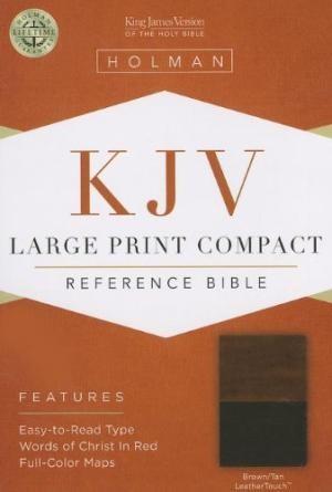KJV Large Print Compact Reference Bible, Brown/Tan (Imitation Leather)